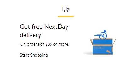 Walmart Free Delivery Example | Calling Your Content to Action
