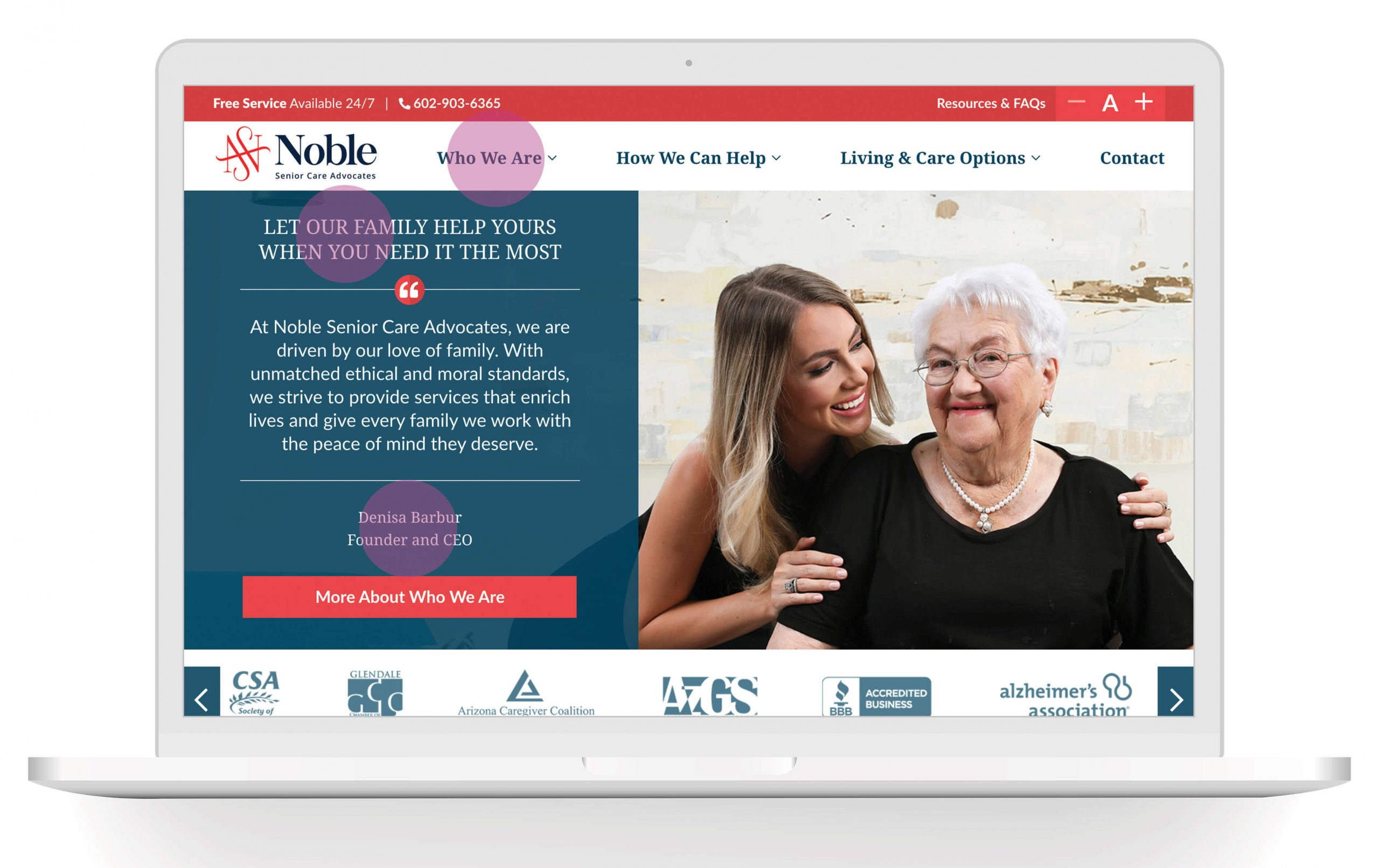 Noble Senior Care Advocates | Choosing a Typeface That's Right for Your Brand