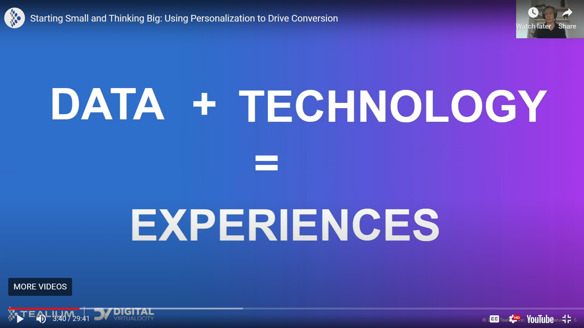Data and Technology Equals Experiences | Digital Velocity Conference