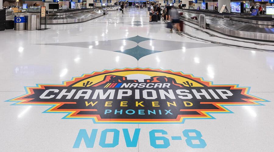 NASCAR Airport Signage